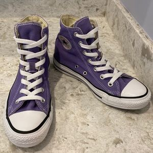 Converse purple high tops